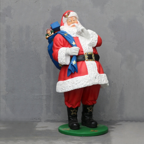 Santa with Blue Sack 6 Ft.