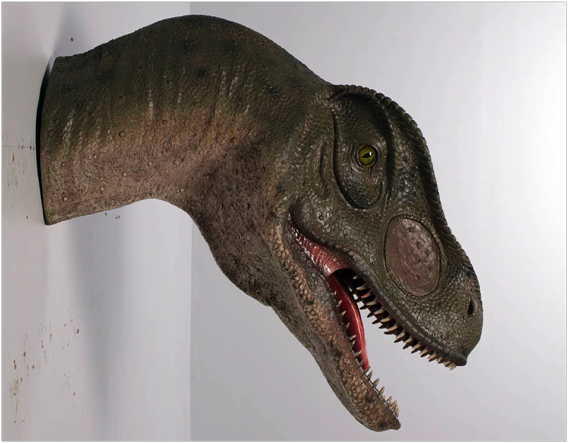 Allosaurus Head - Mouth Open