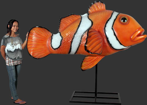Giant Clownfish On Metal Stand