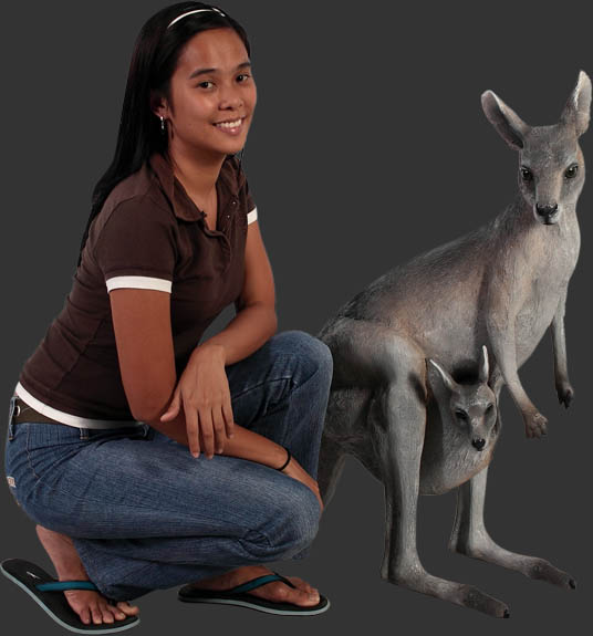Kangaroo with Joey 3ft.
