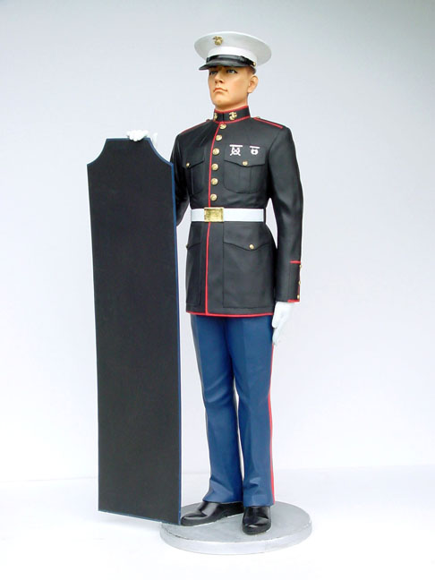 Marine in Attention with menu 6 ft. / Fiberglass