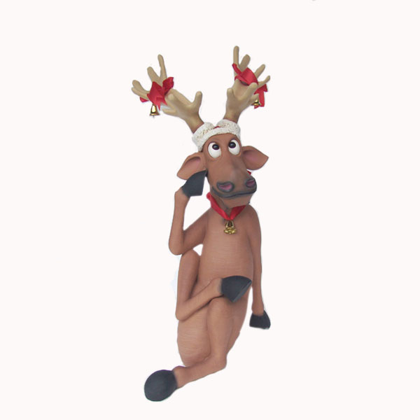 Funny Reindeer Sitting with Crosslegs