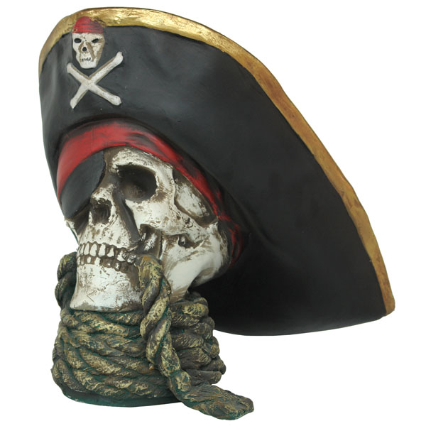 Skull head - Pirate with rope