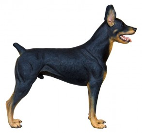 Doberman Statue 3 ft.