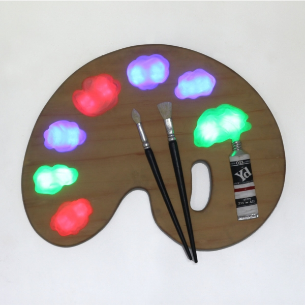 Painter Palette with Led - Wall Decor