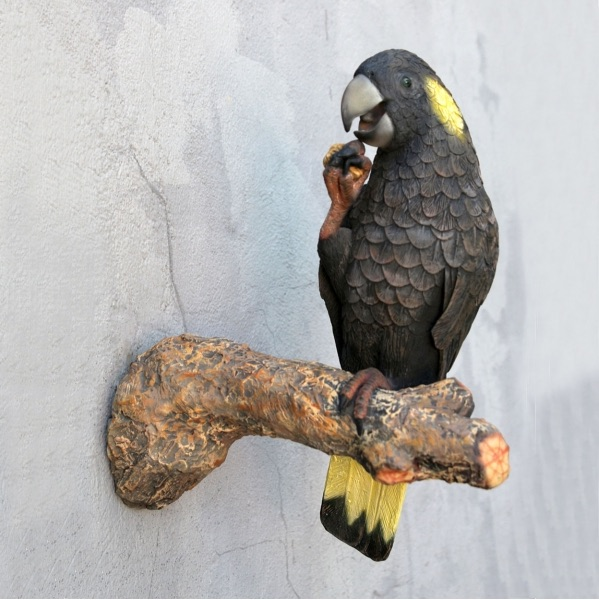 Cockatoo Black-Yellow statue