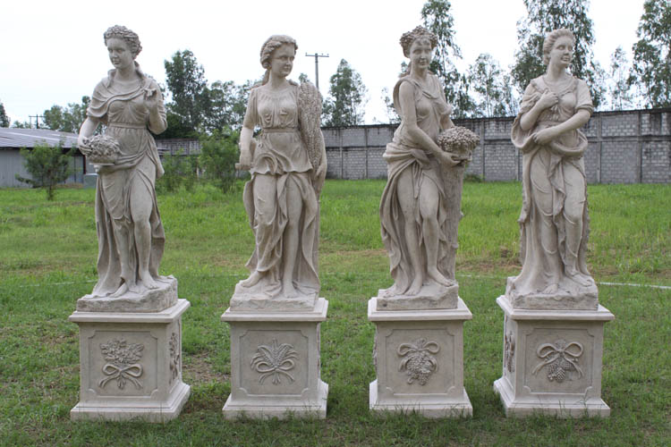 Four Seasons Statues / Roman Stone Finish (Set of 4)