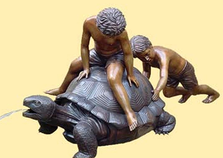 Bronze Boys on the Turtle