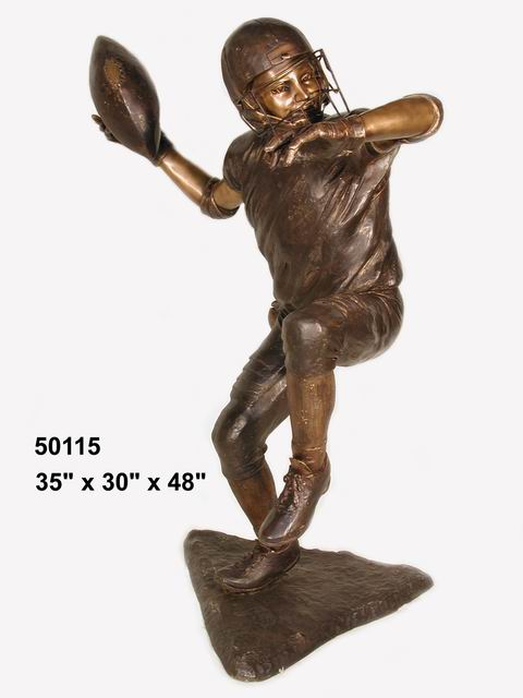 Bronze Football Player