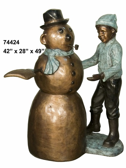 Bronze Boy with Snowman