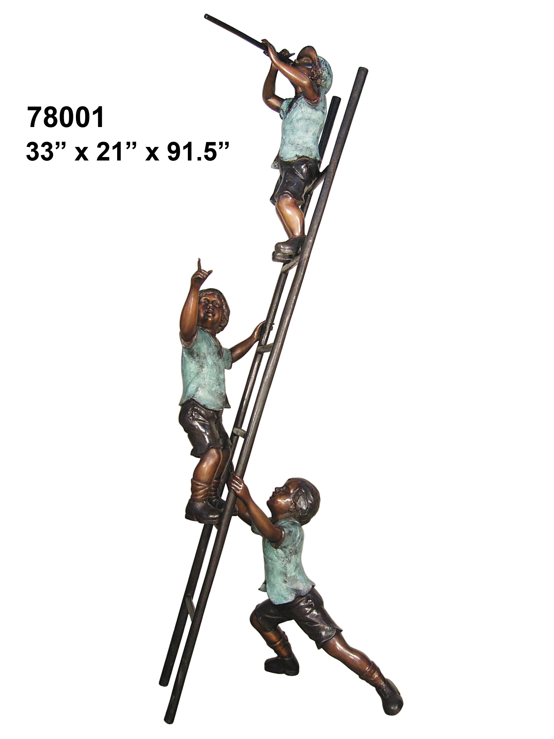 Three Kids on a Ladder