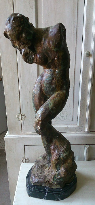 "Bronze Sculpture ""Inner Voice""(A.Rodin)"