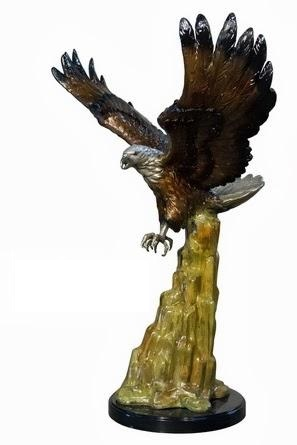 Bronze Eagle On Rock