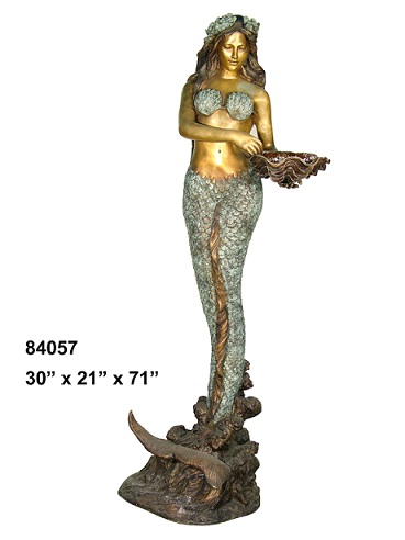 Bronze Mermaid with Shell