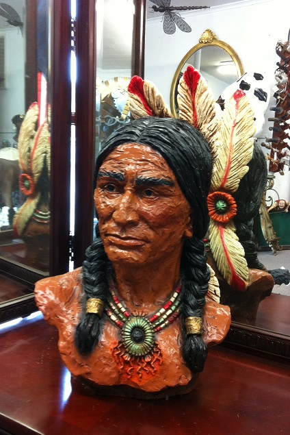 Indian with Feather Bust