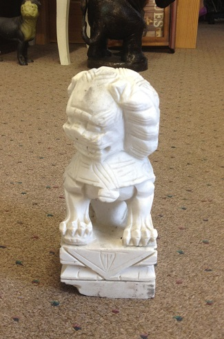 Chinese Mable Foo Dog 12'