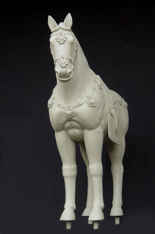 Terracotta Horse Bronze and Roman Stone Finish 7.8'
