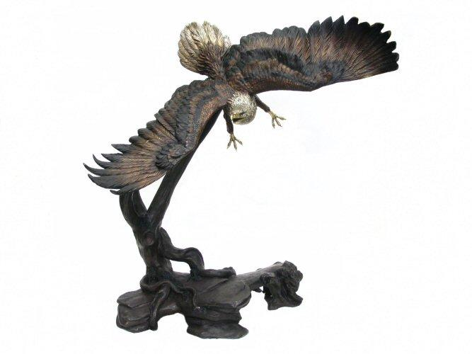 Bronze Flying Eagle Statue 81""