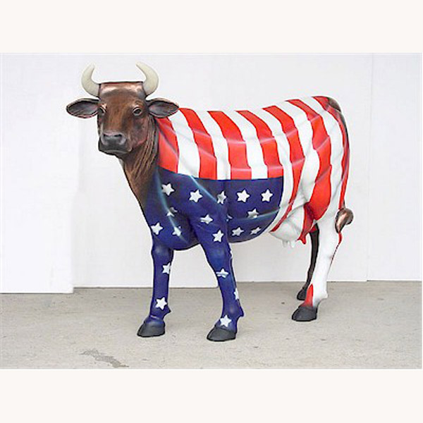 """ America The Beautiful "" Cow (with or without Horns)"