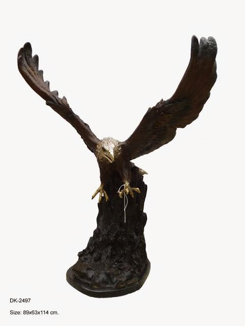 Eagle Flying on Rock 45""
