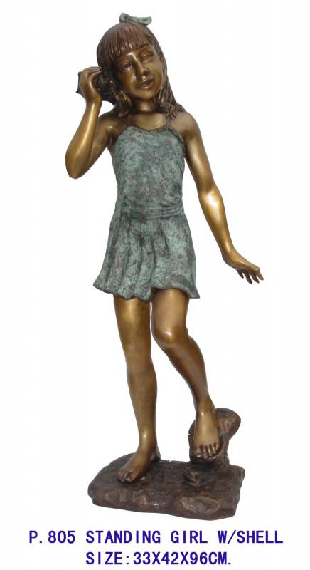 Standing Girl with Shell
