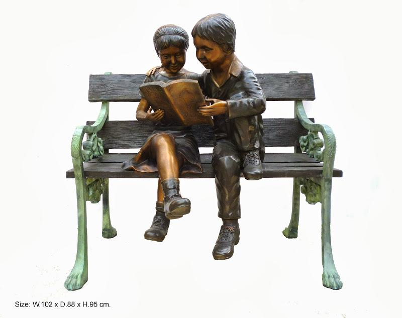 Two Children on Bench