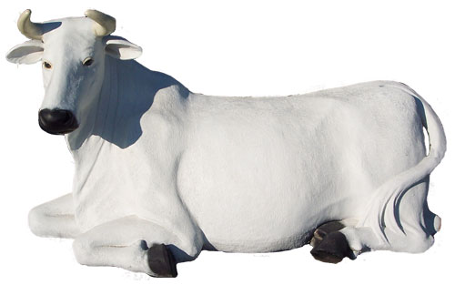 Cow Laying Down- White (with or without Horns)