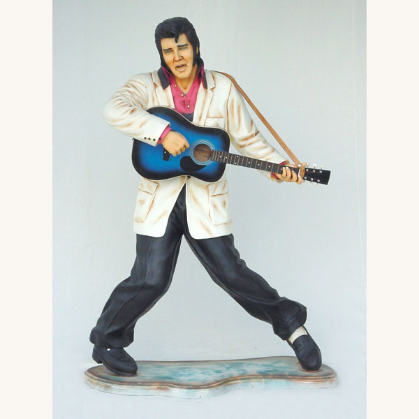 Elvis Presley Standing Playing Guitar - Click Image to Close