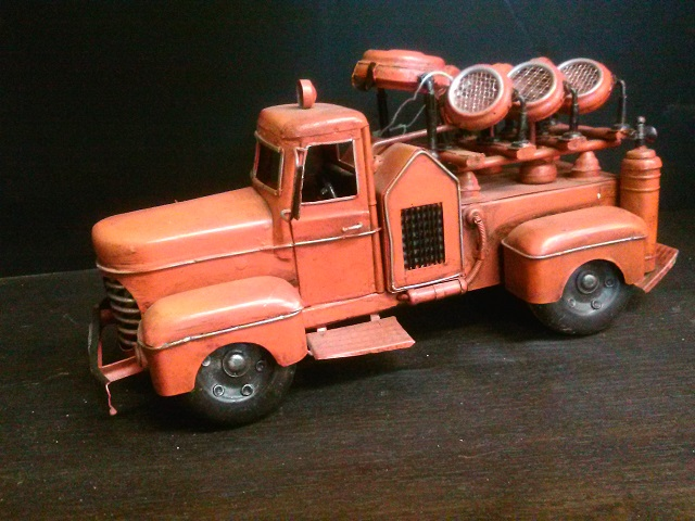Antique Tin Fire Truck