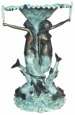 Bronze Mermaids Fountain