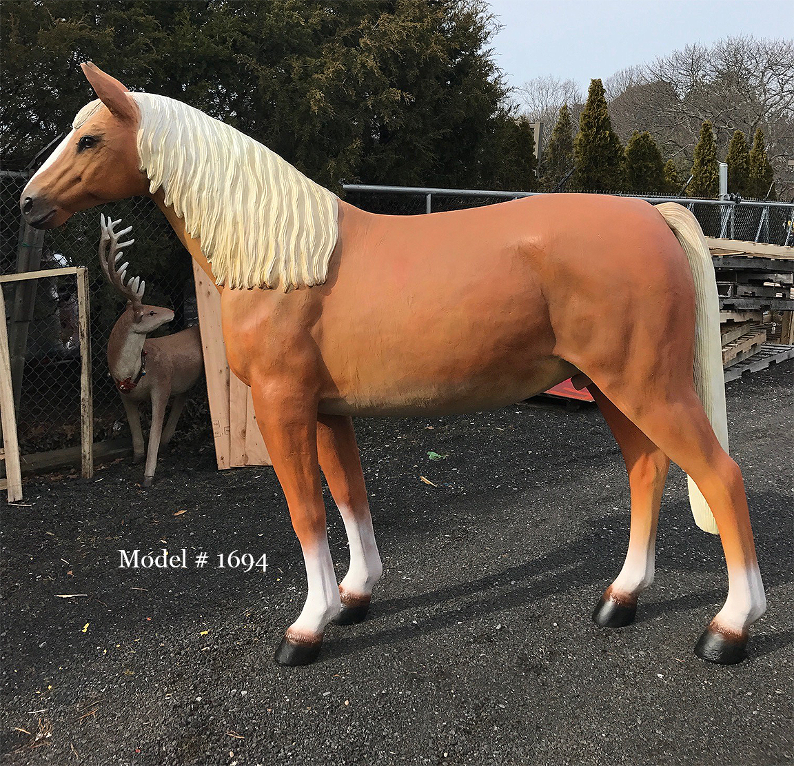 Stallion Horse with Sculpted Mane and Tail