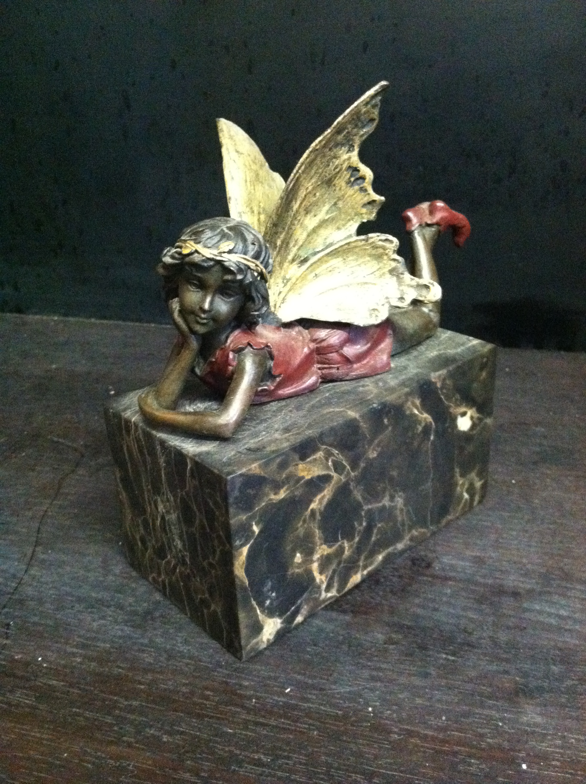Bronze Fairy on Marble Base