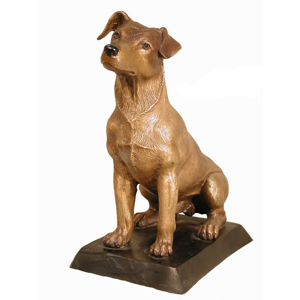 "Bronze "" Jack Russell "" Dog"