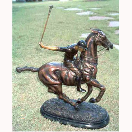 Bronze Polo Player - Click Image to Close