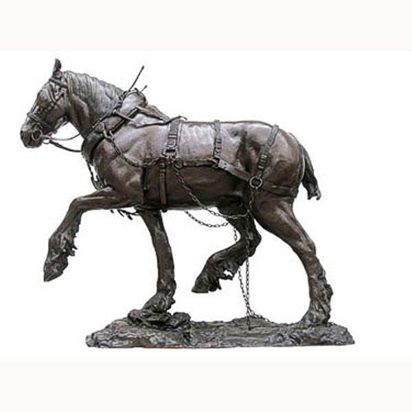 Bronze Clydesdale or plow work Horse