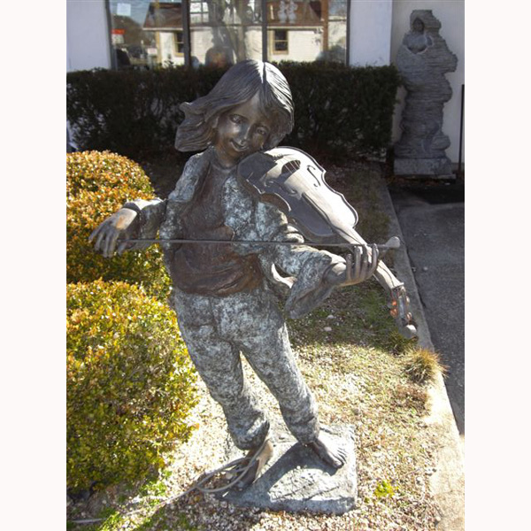 Bronze Girl with Violin