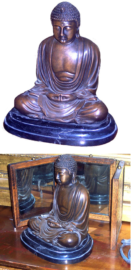 Bronze Buddha on the Marble Base