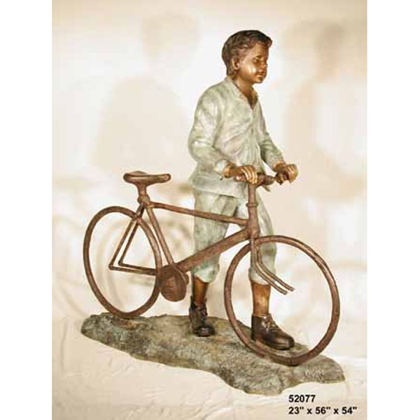 Bronze Boy with Bicycle