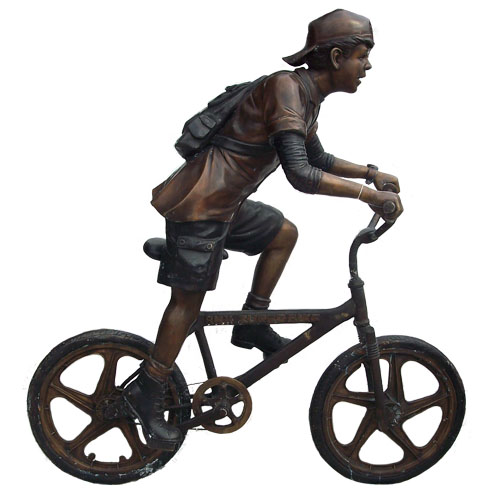 Bronze Boy on Bike