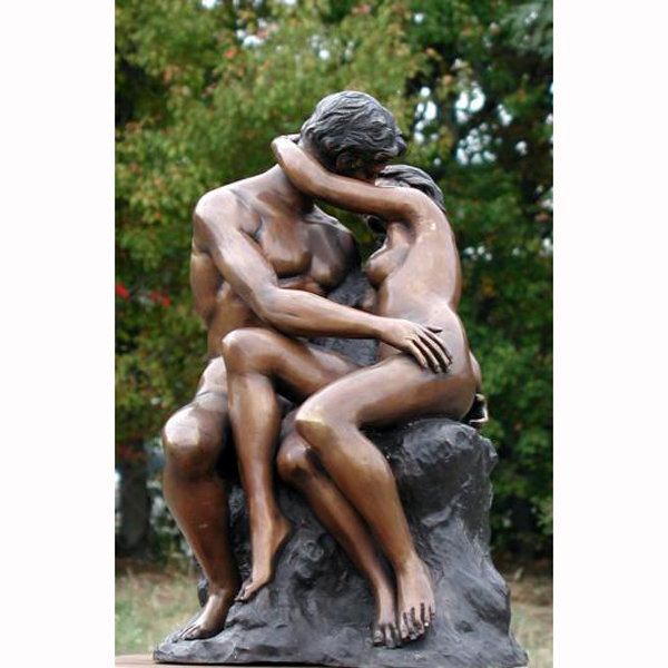 "Bronze Sculpture "" The Kiss \""(A.Rodin)"