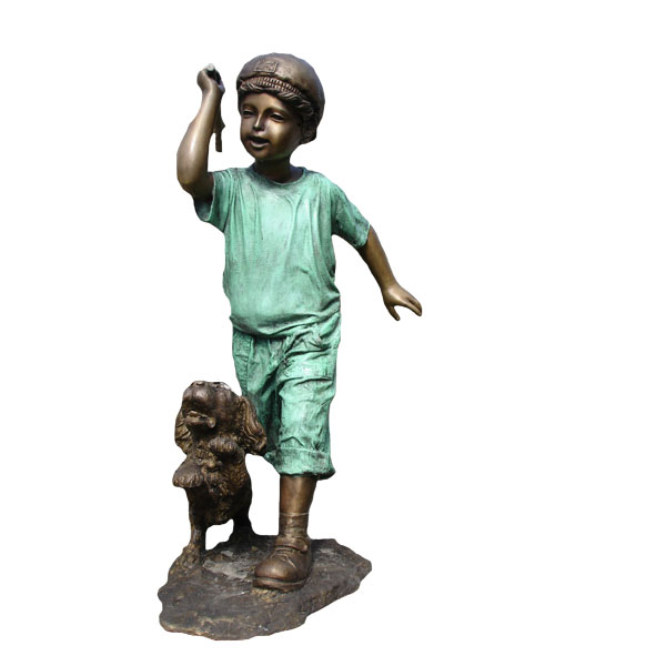 Bronze Boy with Dog