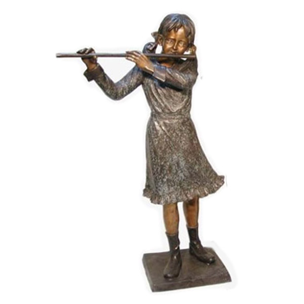 Bronze Girl with Flute