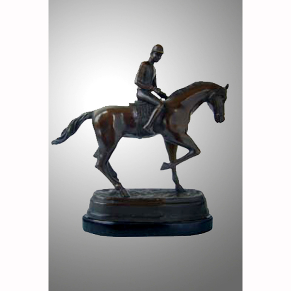 Bronze Horse with Jockey