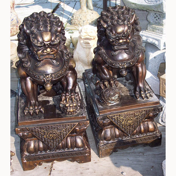 Cast Iron Foo Dogs ( pair )