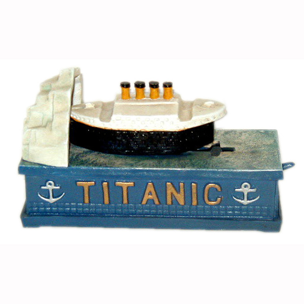 Cast Iron Mechanical Titanic Bank