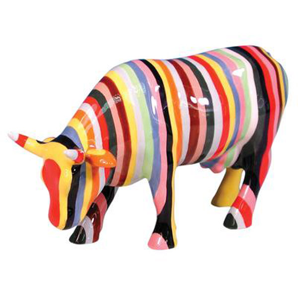 Rainbow Cow life size statues in focus on goat , pig , giraffe black angus , military statue, fireman and policeman statue , wild life statue such us eagle , elephant deer bear alligator , crocodile and farm statue such us cow , black angus , bull sheep horse dog All statues are resin