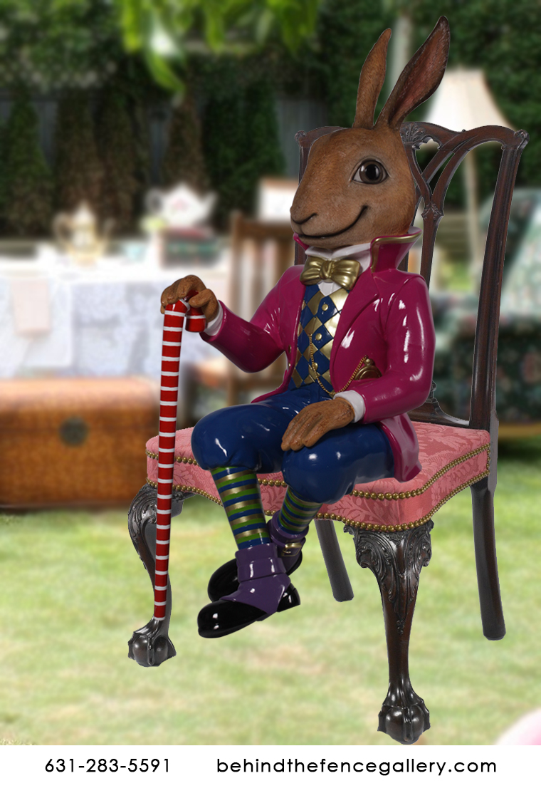 March Hare Alice in Wonderland Statue