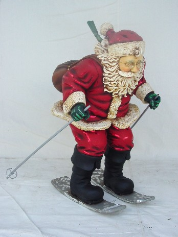 Santa Ice Ski 3 ft - Click Image to Close