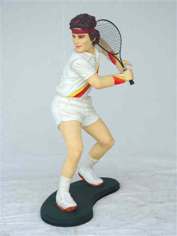 Tennis Player Statue 6 ft - Click Image to Close